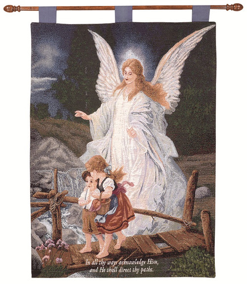 """Direct Thy Paths Religious Pictorial Cotton Wall Art Hanging Tapestry 26"""" x 36"""" - IMAGE 1"""