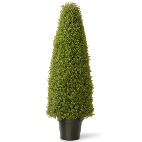 """48"""" Tall Artificial Green Boxwood Topiary Tree with Round Pot - IMAGE 1"""