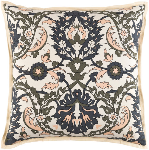 """22"""" Vibrantly Colored Floral Square Throw Pillow - IMAGE 1"""