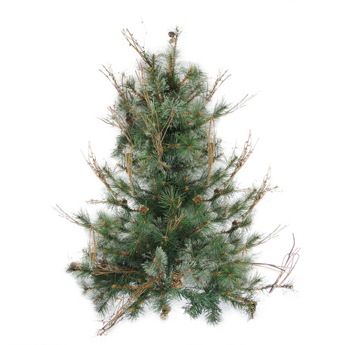 """3' x 28"""" Country Mixed Pine Artificial Christmas Wall or Door Tree - Unlit - IMAGE 1"""