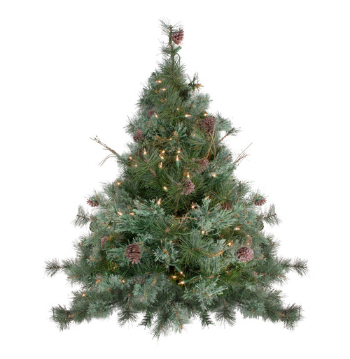 """3' x 40"""" Pre-Lit Country Mixed Pine Artificial Christmas Wall or Door Tree - Clear Lights - IMAGE 1"""