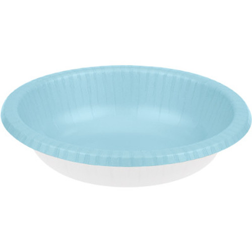 Club Pack of 200 Pastel Blue and White Paper Party Banquet Dinner Bowls 20 oz - IMAGE 1