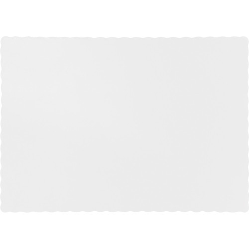 "Club Pack of 600 White Solid Disposable Table Placemats 13.5"" - IMAGE 1"
