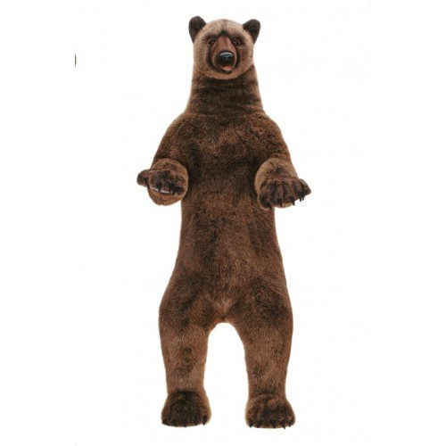 """59"""" Brown Handcrafted Extra Soft Plush Grizzly Bear Stuffed Animal - IMAGE 1"""