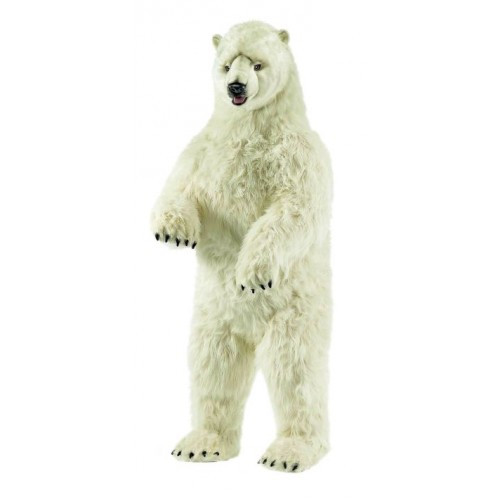 "57.25"" White Handcrafted Extra Soft Plush Standing Polar Bear Stuffed Animal - IMAGE 1"