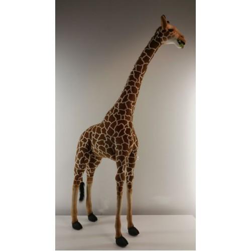 "93.75"" Brown and Beige Handcrafted Soft Plush Giraffe Stuffed Animal - IMAGE 1"