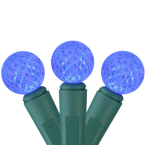 50 Blue LED G12 Berry Mini Christmas Lights - 15.75 ft Green Wire - IMAGE 1