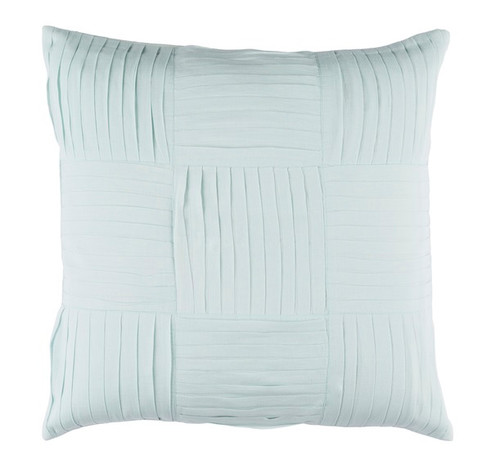"""20"""" Pastel Green Decorative Square Woven Throw Pillow - IMAGE 1"""