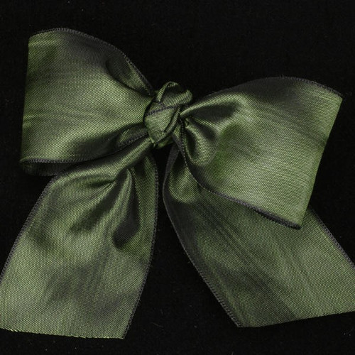 """Forest Green Satin Moire Craft Ribbon 4"""" x 27 Yards - IMAGE 1"""