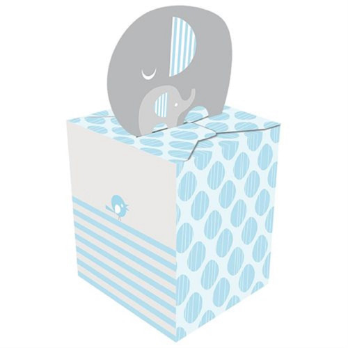 """Club Pack of 48 Baby Blue and White Little Peanut Boy Party Favor Boxes 9.5"""" - IMAGE 1"""