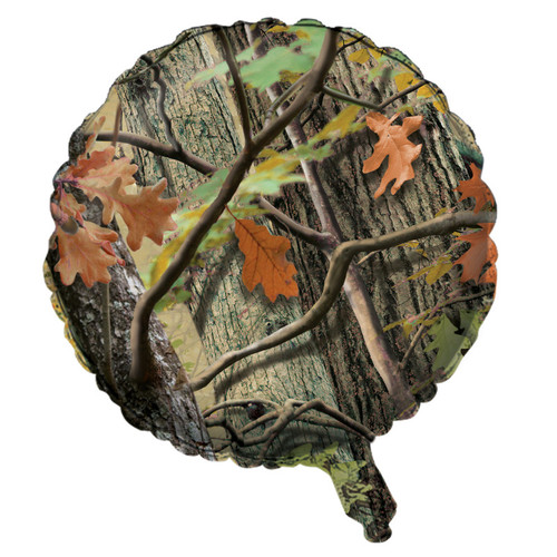 "Pack of 10 Brown and Green Hunting Camo Metallic Foil Party Balloons 18"" - IMAGE 1"