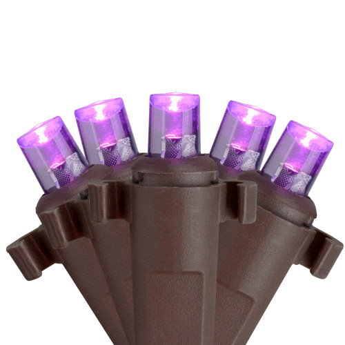 2' x 8' Purple LED Net Style Tree Trunk Wrap Christmas Lights - Brown Wire - IMAGE 1