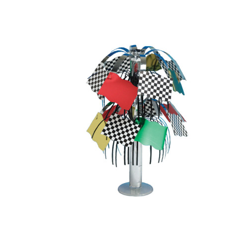 """Club Pack of 12 Multi-Colored Race Day Mini Foil Party Centerpieces 10.5"""" - IMAGE 1"""