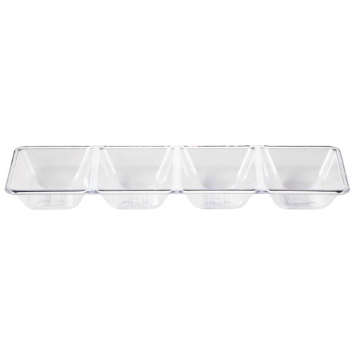 """Club Pack of 12 Clear 4 Compartment Trays 16"""" - IMAGE 1"""