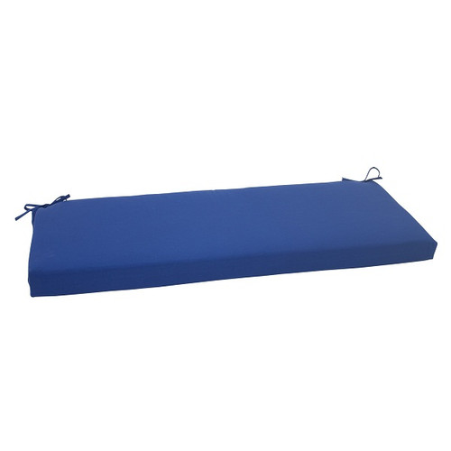"""45"""" Navy Blue Solid Outdoor Patio Bench Cushion - IMAGE 1"""