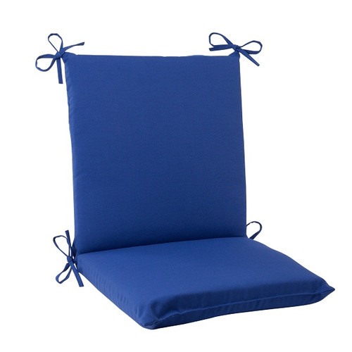 """36.5"""" Navy Blue Solid Outdoor Patio Square Edged Chair Cushion - IMAGE 1"""