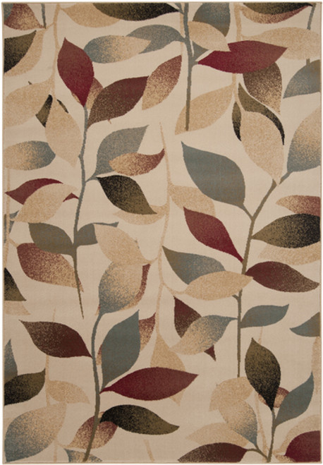 10' x 13' Dark Red and Brown Rectangle Area Throw Rug - IMAGE 1