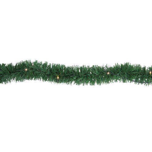 "18' x 2.5"" Pre-Lit Pine Artificial Christmas Garland - Warm White Dura-Lit Lights - IMAGE 1"