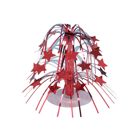 """Club Pack of 12 Mini Red Stars Cascading Centerpiece Party Decorations 8.5"""" - IMAGE 1"""