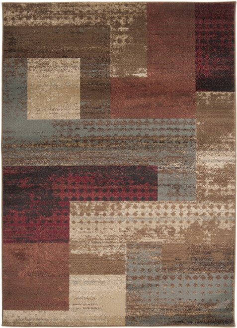 10' x 13' Smoke Gray and Beige Contemporary Rectangle Area Throw Rug - IMAGE 1