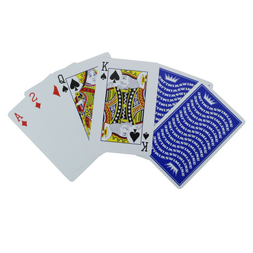 """3.5"""" Blue Waterproof Swimming Pool Deck of Playing Cards - IMAGE 1"""