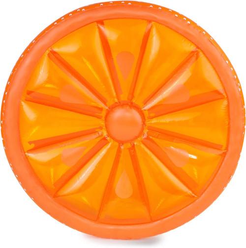"61.5"" Inflatable Orange Fruit Slice Swimming Pool Lounger Raft - IMAGE 1"