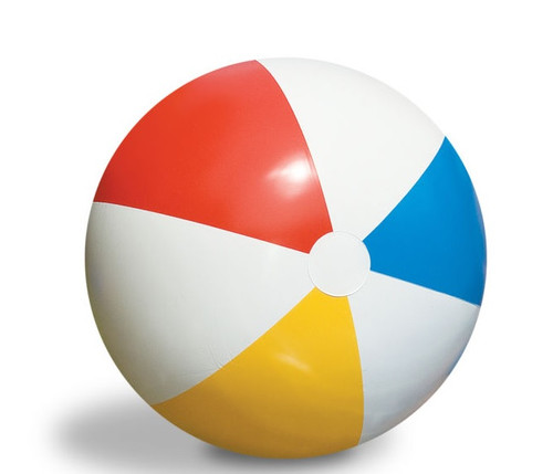 30-Inch Inflatable Vibrant Colored Water Sports Classic Beach Ball - IMAGE 1