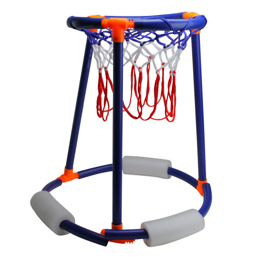 """24"""" Blue and White Tall Boy Basketball Swimming Pool Game Stand - IMAGE 1"""