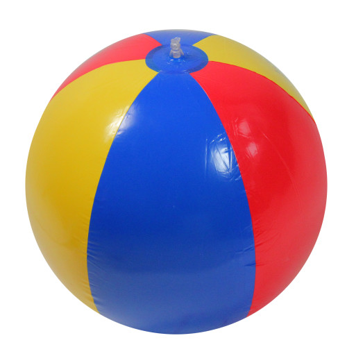 24-Inch Inflatable Red and Blue Beach Ball Swimming Pool Toy - IMAGE 1