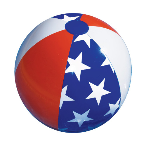 22-Inch Inflatable Patriotic American Stars and Stripes Beach Ball Swimming Pool Toy - IMAGE 1