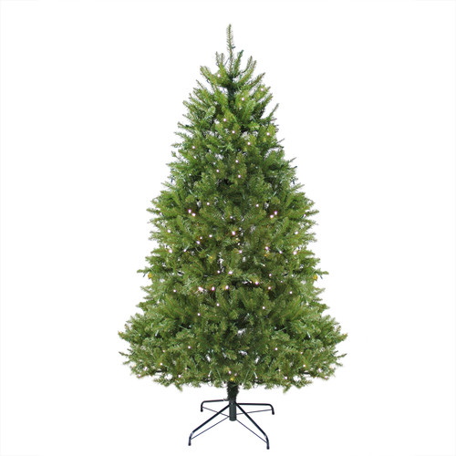 6.5' Pre-Lit Green Medium Northern Pine Artificial Christmas Tree - Warm Clear LED Lights - IMAGE 1