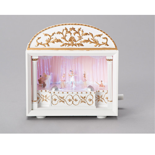 """6.25"""" Musical Animated Sleeping Beauty Ballet Theater Decoration - IMAGE 1"""