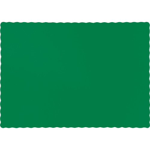 """Club Pack of 600 Emerald Green Disposable Table Placemats 13"""" - IMAGE 1"""
