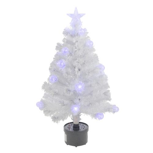 3' Pre-Lit Iridescent Fiber Optic Artificial Christmas Tree - White Lights - IMAGE 1
