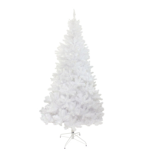 7.5' White Glimmer Iridescent Spruce Full Artificial Christmas Tree - Unlit - IMAGE 1