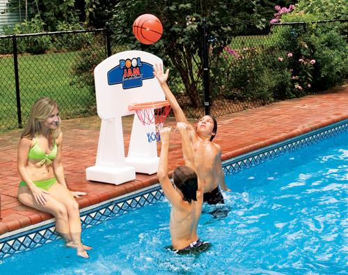 "33"" Orange and White Water Sports Swimming Pool Jam Basketball - IMAGE 1"