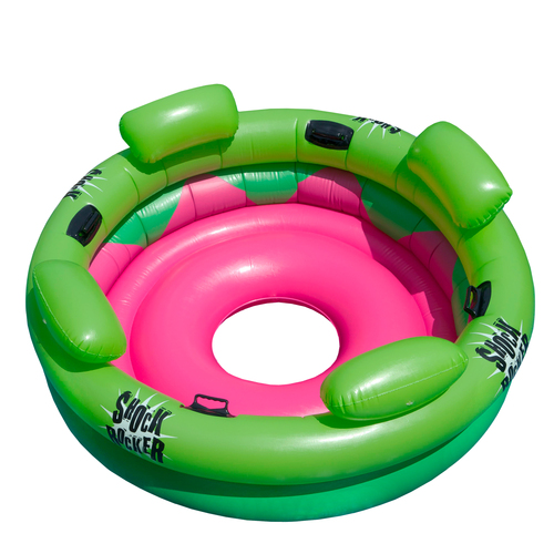 "75"" Bright Green and Pink Inflatable Shock Rocker Swimming Pool Float Toy - IMAGE 1"