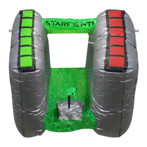 """40"""" Gray and Green Inflatable Starfighter Super Squirter Swimming Pool Float - IMAGE 1"""