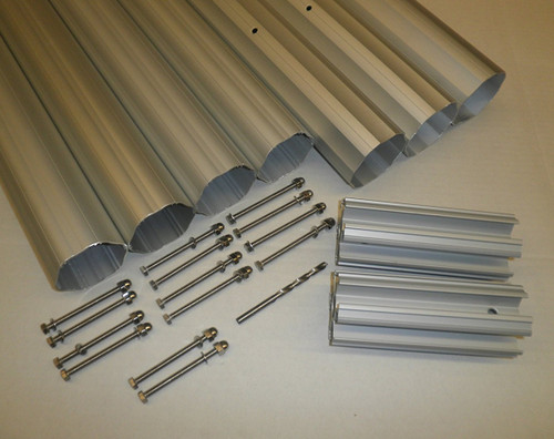 "HydroTools Hexagonal Aluminum Solar Cover Reel Tube Kit - 4"" x 28' - IMAGE 1"