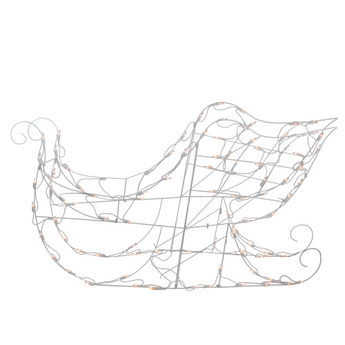 """42"""" Lighted White Sleigh Christmas Outdoor Decor - Clear Lights - IMAGE 1"""