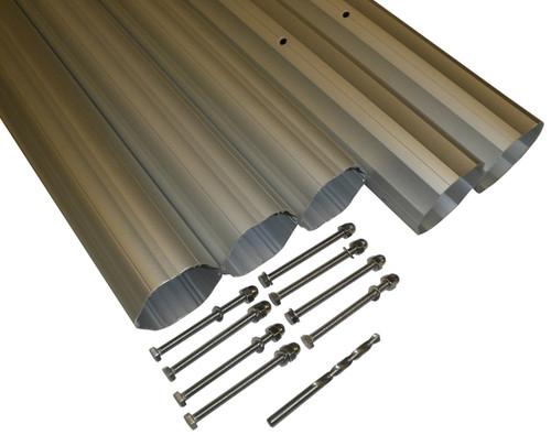 "HydroTools Hexagonal Aluminum Solar Cover Reel Tube Kit - 3"" x 24' - IMAGE 1"