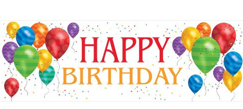 """Pack of 6 Multicolor Balloon Blast """"Happy Birthday"""" Party Banners 60"""" - IMAGE 1"""