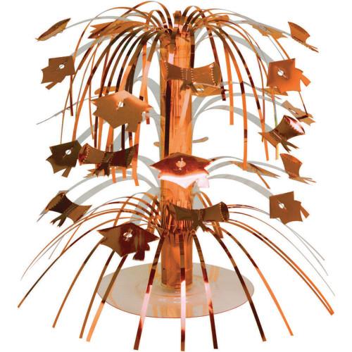 "Pack of 12 Sunkissed Orange Mini Cascade Centerpiece Graduation Party Decorations 8.5"" - IMAGE 1"