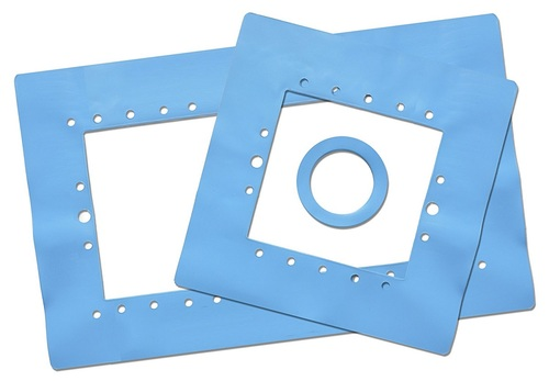 "3pc Blue HydroTools Wall Saver Swimming Pool Skimmer Gasket Set 15.5"" - IMAGE 1"