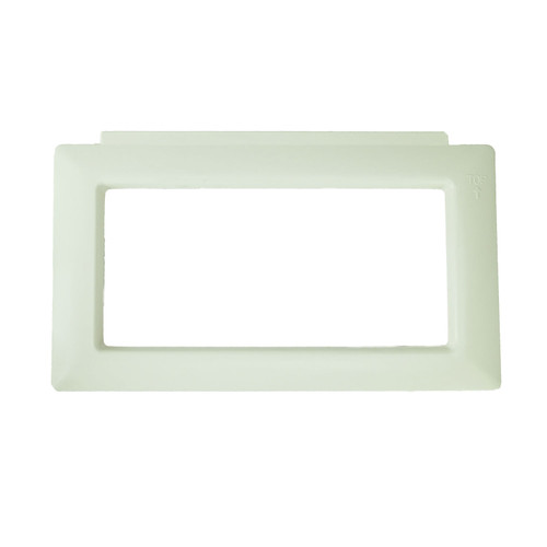 """14.25"""" White HydroTools Wide Mouth Swimming Pool or Spa Vanity Trim Skimmer Face Plate - IMAGE 1"""