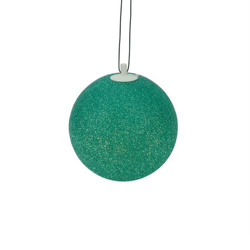 "7"" Green Lighted Twinkling Patio Christmas Hanging Decoration - IMAGE 1"