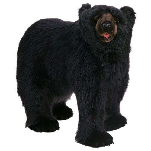 "53"" Black Handcrafted Soft Plush Walking Bear - IMAGE 1"