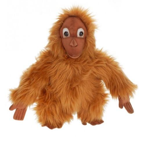 Set of 4 Brown Handcrafted Plush Orangutan Stuffed Animals 10'' - IMAGE 1