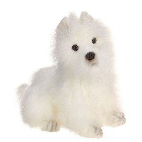 """Set of 3 White and Black Handcrafted West Highland White Terrier Dog Stuffed Animals 9"""" - IMAGE 1"""