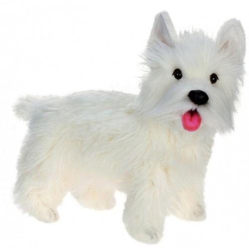 "19.5"" White and Black Handcrafted West Highland Dog Stuffed Animal - IMAGE 1"